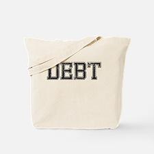 DEBT, Vintage Tote Bag