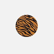 Tiger Animal Print Mini Button