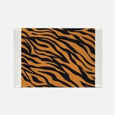 Tiger Animal Print Rectangle Magnet