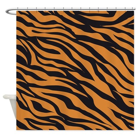 tiger animal print shower curtain by printedlittletreasures