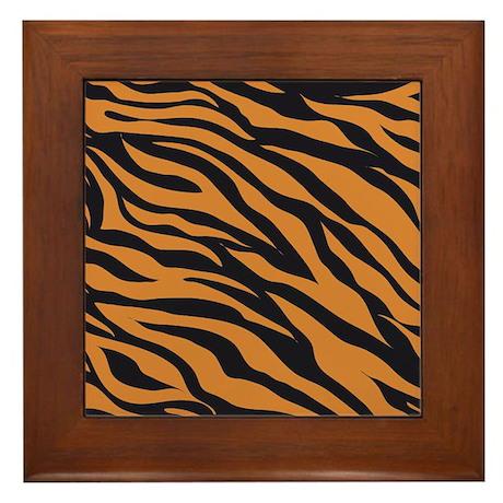 Tiger Animal Print Framed Tile