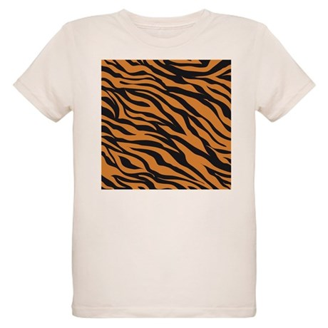 Tiger animal prin organic kids t shirt tiger animal print for Leopard print shirts for toddlers