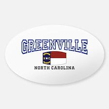 Greenville, North Carolina, NC, USA Decal