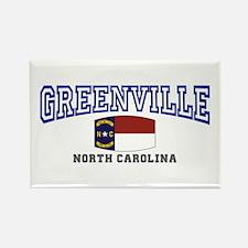 Greenville, North Carolina, NC, USA Rectangle Magn