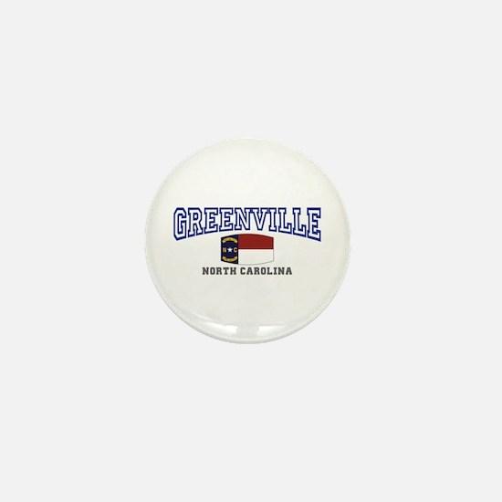 Greenville, North Carolina, NC, USA Mini Button