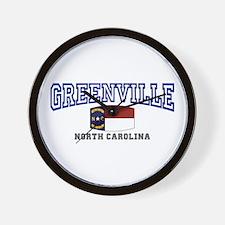 Greenville, North Carolina, NC, USA Wall Clock