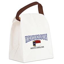 Henderson, North Carolina Canvas Lunch Bag