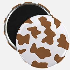 Brown Cow Animal Print Magnet