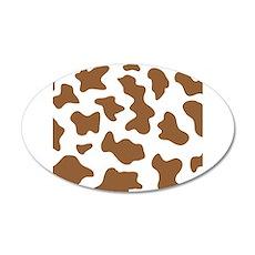 Brown Cow Animal Print Wall Decal
