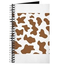 Brown Cow Animal Print Journal