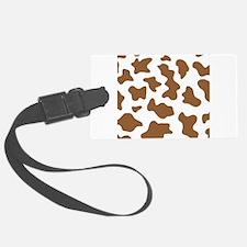 Brown Cow Animal Print Luggage Tag