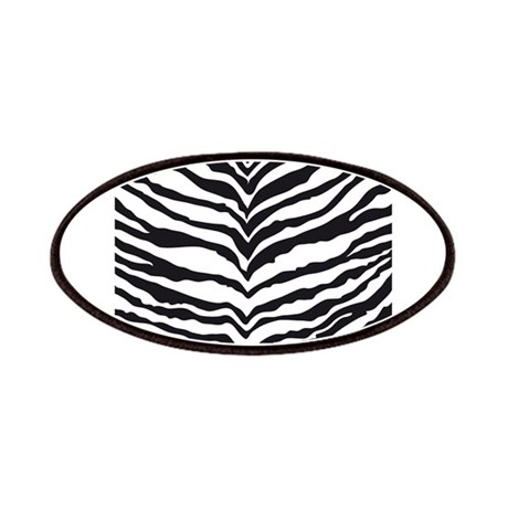 White Tiger Animal Print Patches