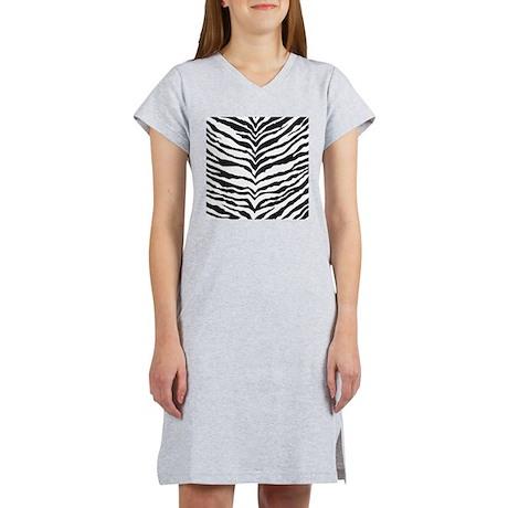 White Tiger Animal Print Women's Nightshirt