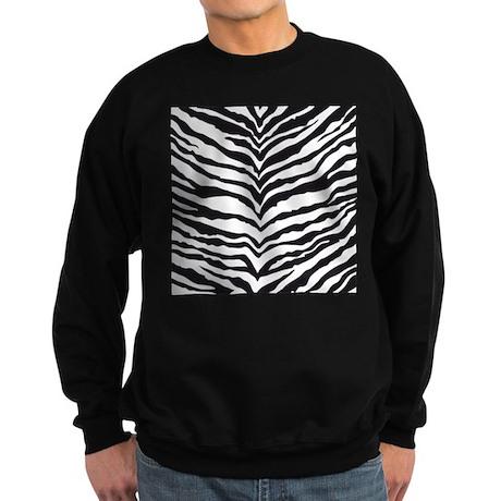 White Tiger Animal Print Sweatshirt (dark)