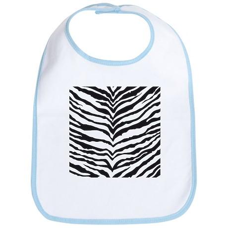 White Tiger Animal Print Bib
