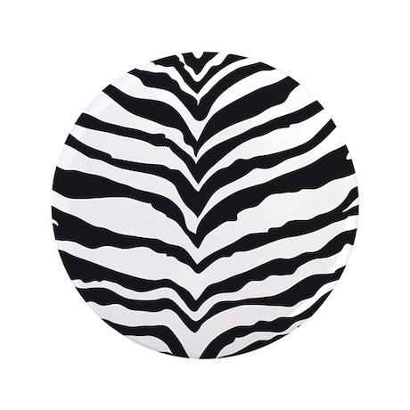 "White Tiger Animal Print 3.5"" Button"