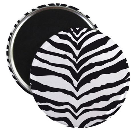 White Tiger Animal Print Magnet