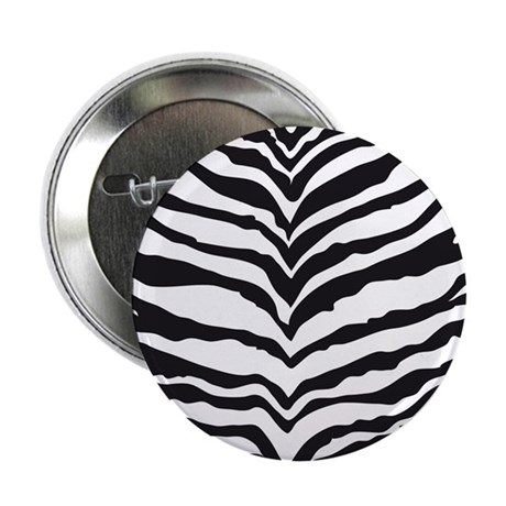 "White Tiger Animal Print 2.25"" Button"
