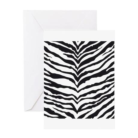 White Tiger Animal Print Greeting Card