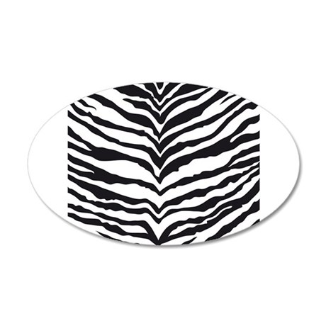 White Tiger Animal Print 35x21 Oval Wall Decal