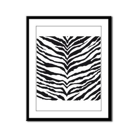 White Tiger Animal Print Framed Panel Print
