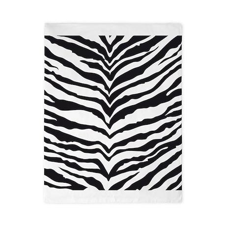 White Tiger Animal Print Twin Duvet