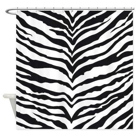 White Tiger Animal Print Shower Curtain