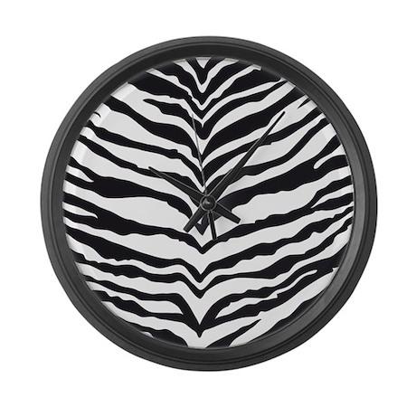 White Tiger Animal Print Large Wall Clock