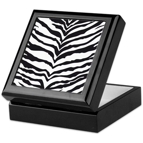 White Tiger Animal Print Keepsake Box