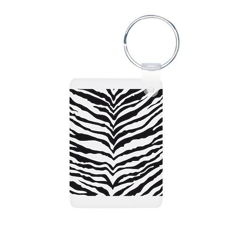 White Tiger Animal Print Aluminum Photo Keychain