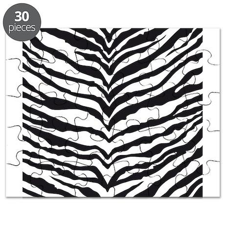 White Tiger Animal Print Puzzle