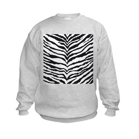 White Tiger Animal Print Kids Sweatshirt