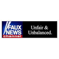 Faux News Channel - bumpersticker