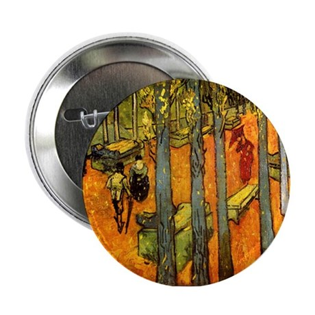 Alyscamps by Vincent Van Gogh Button