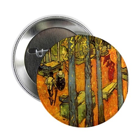 "Alyscamps by Vincent Van Gogh 2.25"" Button (100 pa"