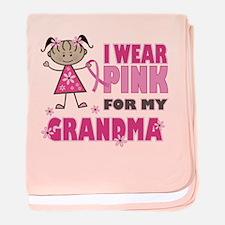 Wear Pink 4 Grandma baby blanket