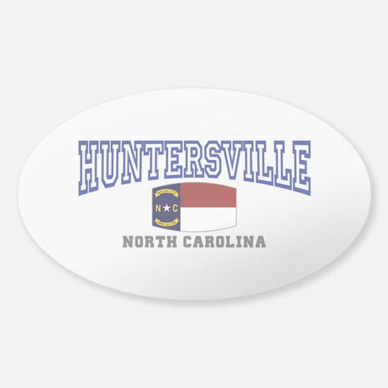 Huntersville, North Carolina Sticker (Oval)