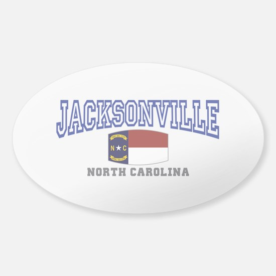 Jacksonville, North Carolina Sticker (Oval)
