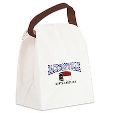 Jacksonville, North Carolina Canvas Lunch Bag