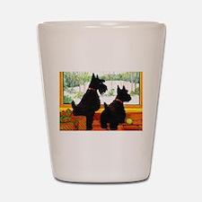 A Scotty Dog Christmas Shot Glass