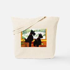 A Scotty Dog Christmas Tote Bag