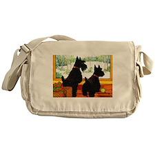 A Scotty Dog Christmas Messenger Bag