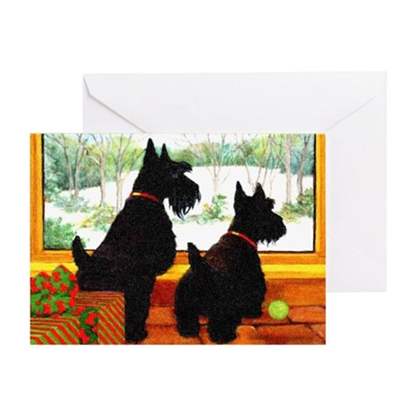 A Scotty Dog Christmas Greeting Card