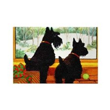 A Scotty Dog Christmas Rectangle Magnet (100 pack)