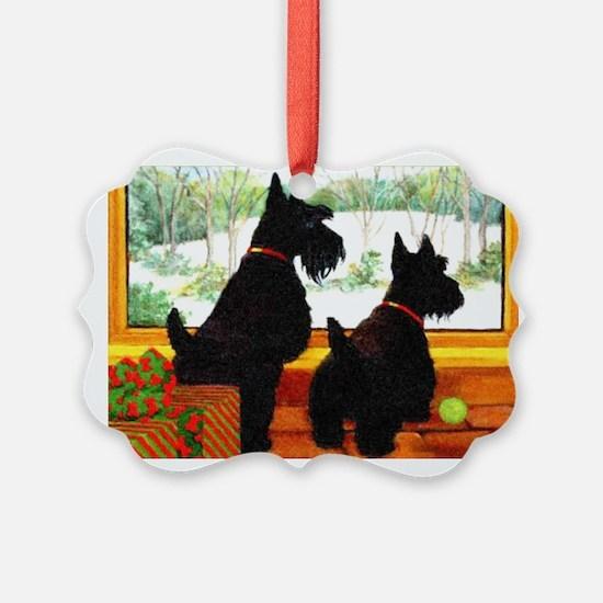 A Scotty Dog Christmas Ornament