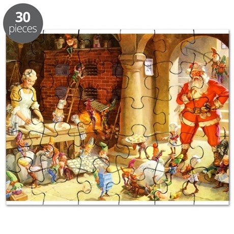 Mrs. Claus & the Elves Bake Christmas Cooki Puzzle