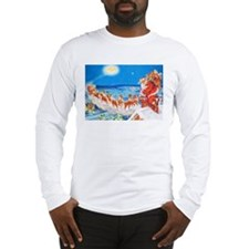 Santa Claus Up On The Rooftop Long Sleeve T-Shirt