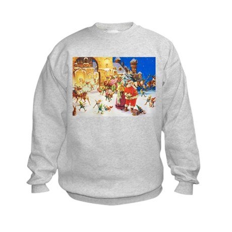 Santa & Mrs. Claus at the North Po Kids Sweatshirt