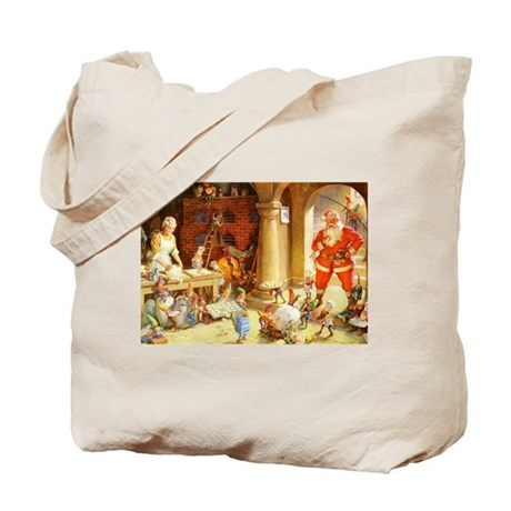 Mrs. Claus & the Elves Bake Christmas Coo Tote Bag