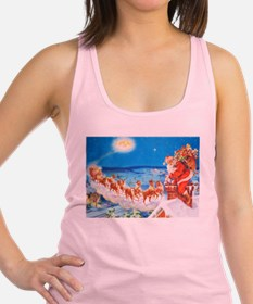 Santa Claus Up On The Rooftop Racerback Tank Top